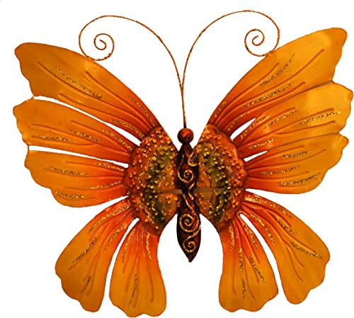 Eangee m711036 Wall Butterfly Sunflower Metal Art Piece
