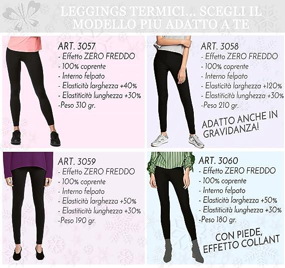 Leggings Térmicos para mujeres 3060 Pantalón elástico en felpa invernal con  pies 34940bcfa14d