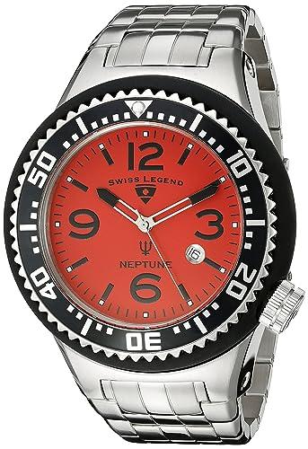 SWISS LEGEND NEPTUNE RELOJ DE HOMBRE CUARZO SUIZO 52MM 21819P-55: Amazon.es: Relojes