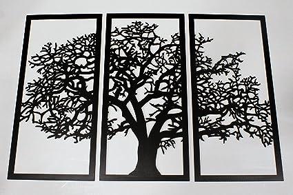Amazon.com: Skyline Workshop Tree of Life 3D Ebony - 3 Panel Wood ...