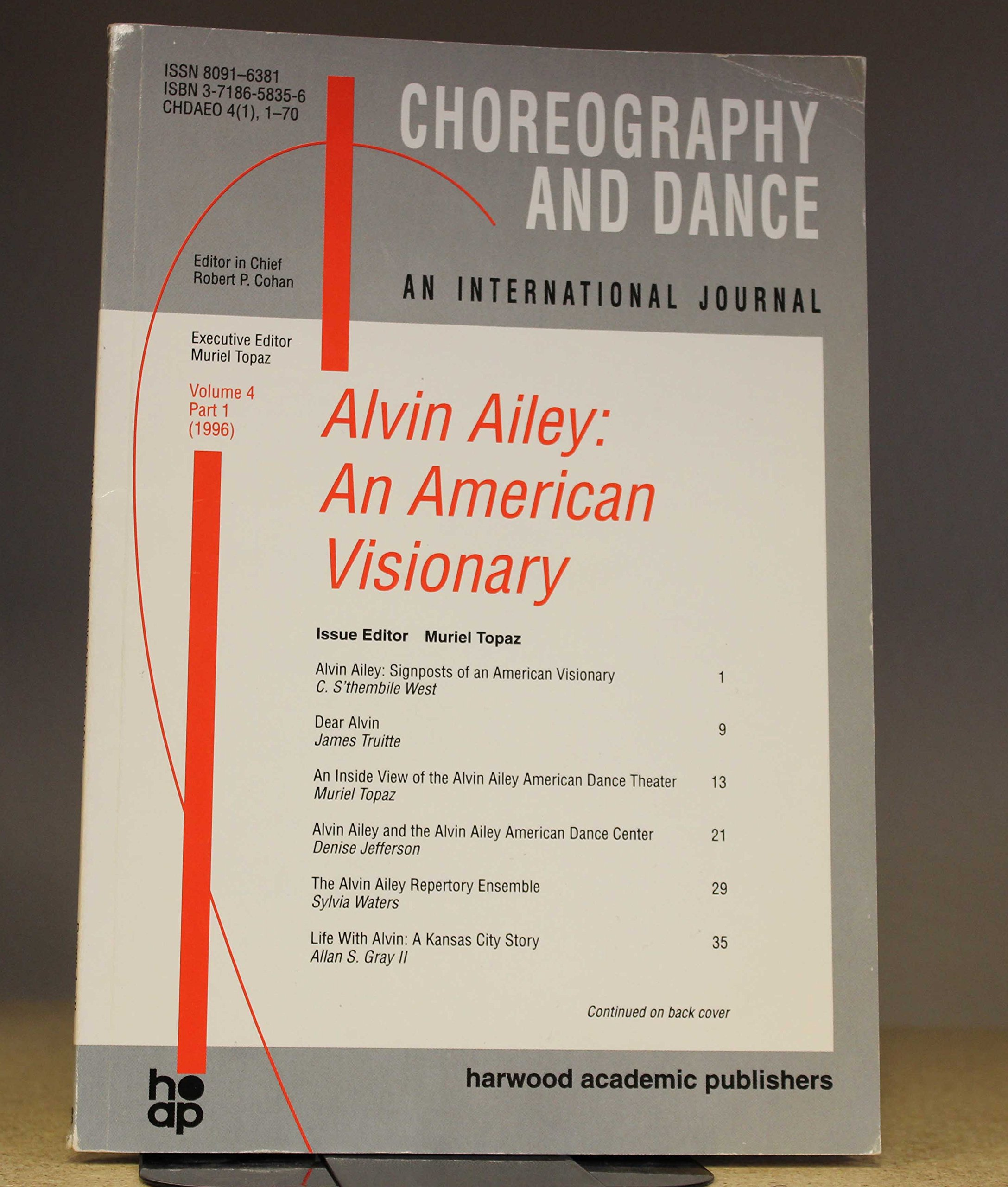 Alvin Ailey: An American Visionary (Choreography and Dance Studies Series)