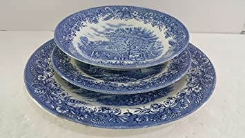 Churchill Currier and Ives Dinnerware Set of 13 Pieces & Amazon.com | Churchill Currier and Ives Dinnerware Set of 13 Pieces ...