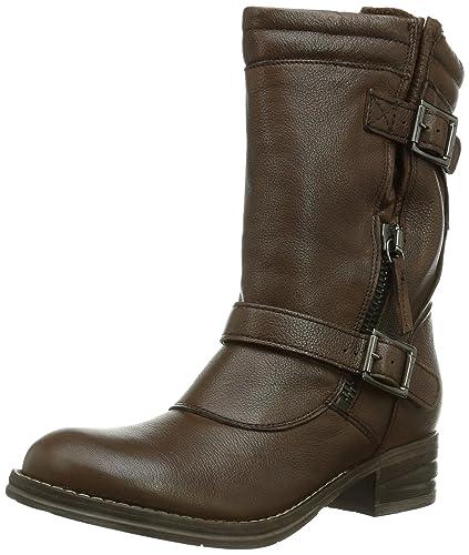 94d296136e8 Clarks Mezze Rose, Women Biker Boots, Brown (Brown Leather), 4.5 UK ...