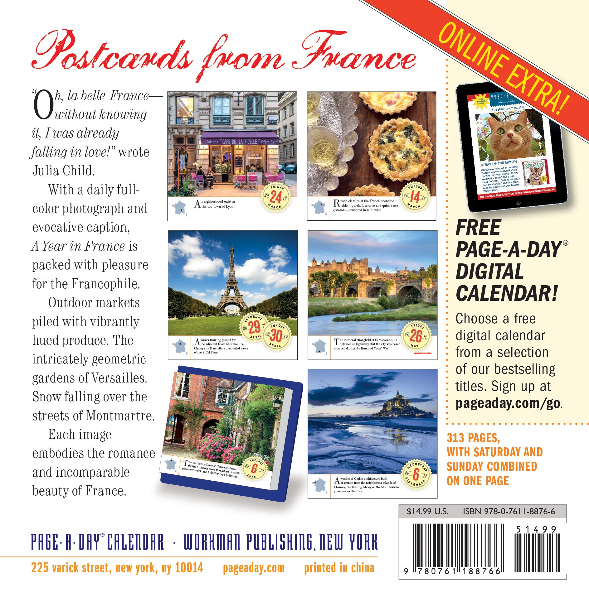 A Year in France Page-A-Day Calendar 2017: Workman Publishing ...