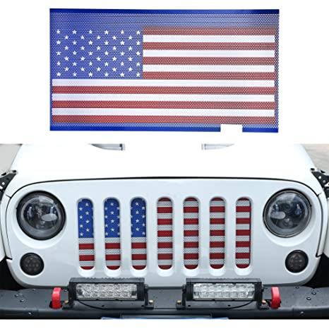 Amazon Com Hooke Road Usa American Flag Front Grille Mesh Insert
