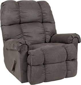 Flash Furniture Sierra Graphite Microfiber Rocker Recliner