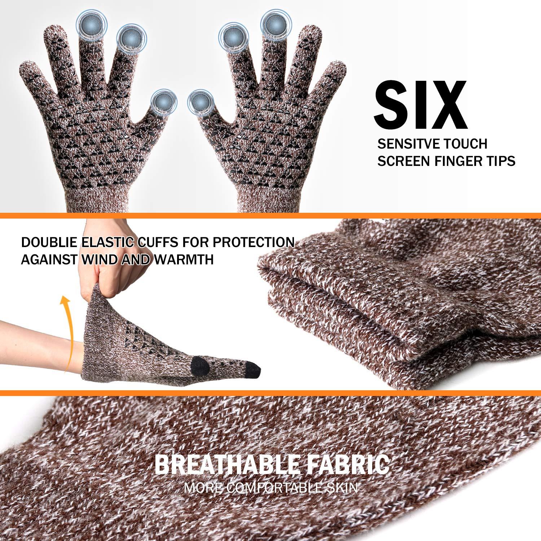 guanti invernali per touch screen unisex foderati in lana Veni Masee