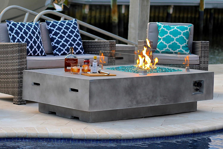 Amazon Com Akoya Outdoor Essentials 65 Rectangular Modern Concrete