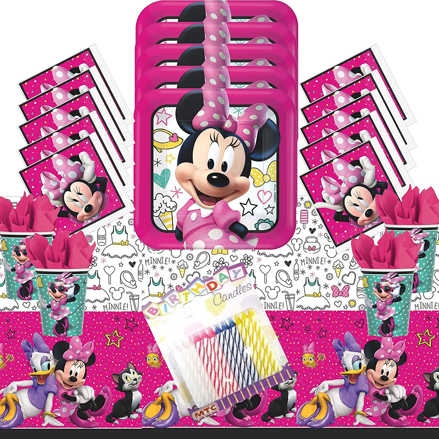 Minnie Mouse Party Supplies for 16 Guests