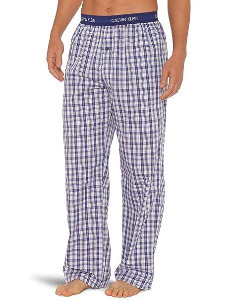 Calvin Klein Pijama a cuadros para hombre, talla S, color varios colores (hank