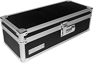 "Vaultz Locking Medicine Storage Box with Combination Lock, 3.75"" x 11.88"" x 5.25"", Black (VZ03480)"