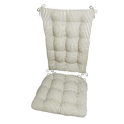 Amazon Com Ticking Stripe Black Rocking Chair Cushions Extra