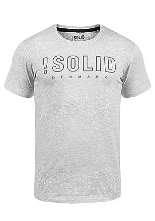 0c54cf3e85d3d8 Solid Solido Herren T-Shirt Kurzarm Shirt Mit Print Und Rundhalsausschnitt