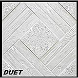 1 m² Deckenplatten Styroporplatten Stuck Decke Dekor Platten 50x50cm, DUET