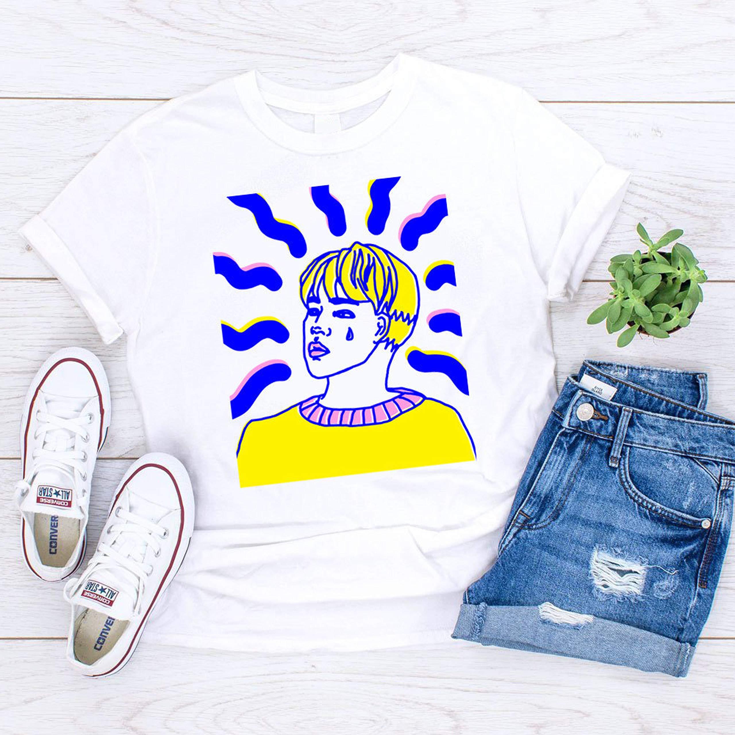 BTS Jimin Feels Shirt - Park Jimin Tshirt Bangtan BTS Jimin Tee Chim Tumblr Aesthetic Clothing Kpop Merch Korean Pop Art Meme Love Yourself by