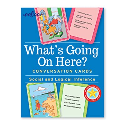 eeBoo What's Going on Here Social Conversation Flash Cards for Kids: Toys & Games