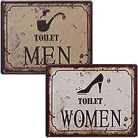 2WC carteles Toilet Women & Toilet Men Retro