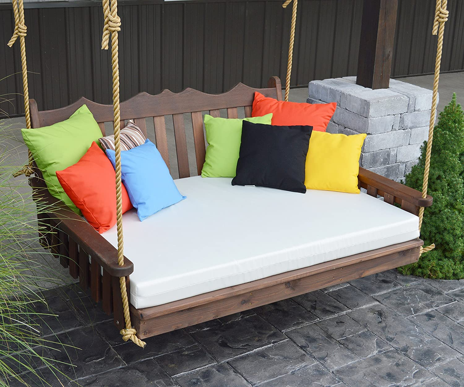 Best porch swing bed outdoor swinging daybed patio day bed rope swings hanging 3 person bench unique western red cedar outside furniture decor