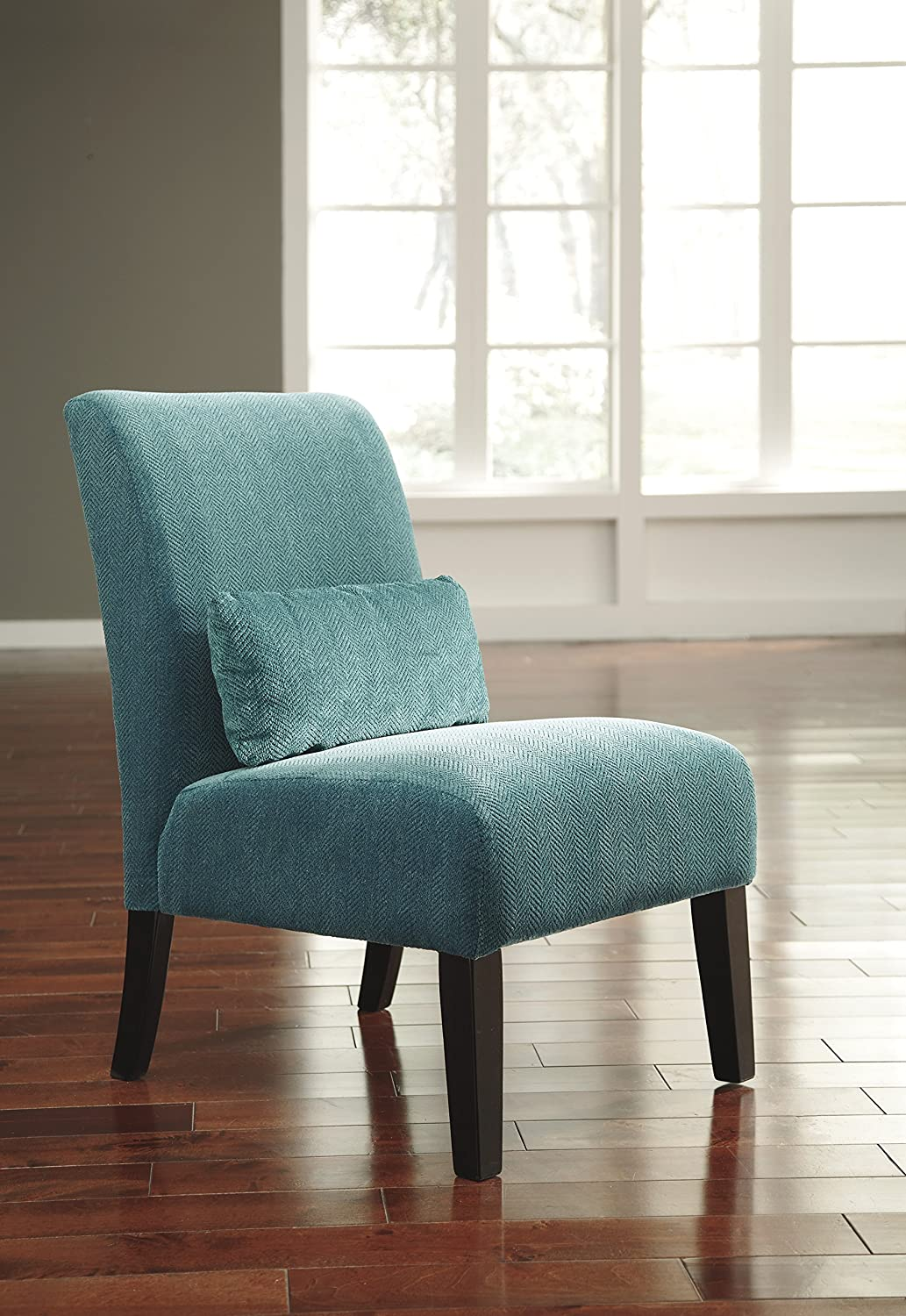 Perfect Amazon.com: Anora Fabric Armless Contemporary Accent Chair; Teal: Kitchen U0026  Dining