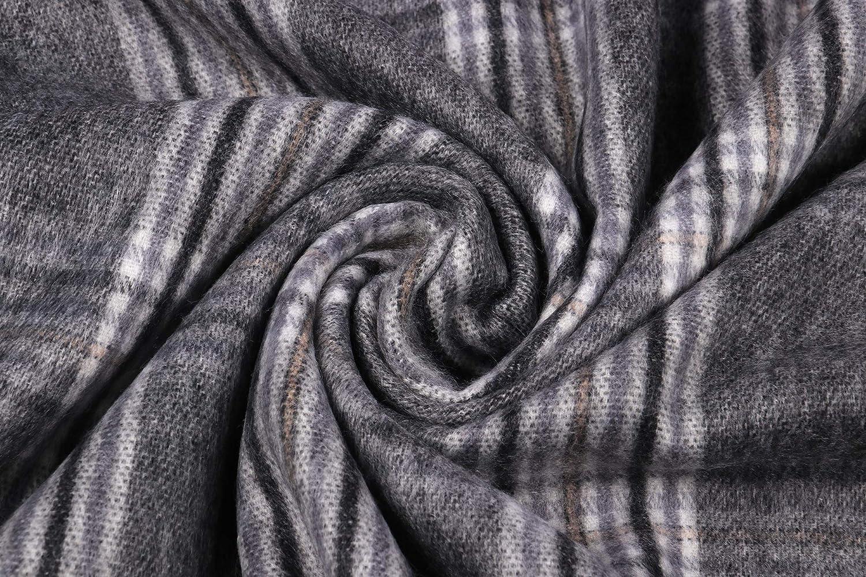 Longwu Women Soft Cashmere Wool Scarf Large Pashminas Shawl and Wrap Warm Stole Blanket-Camel