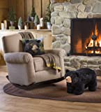 Plow & Hearth Black Bear Footstool