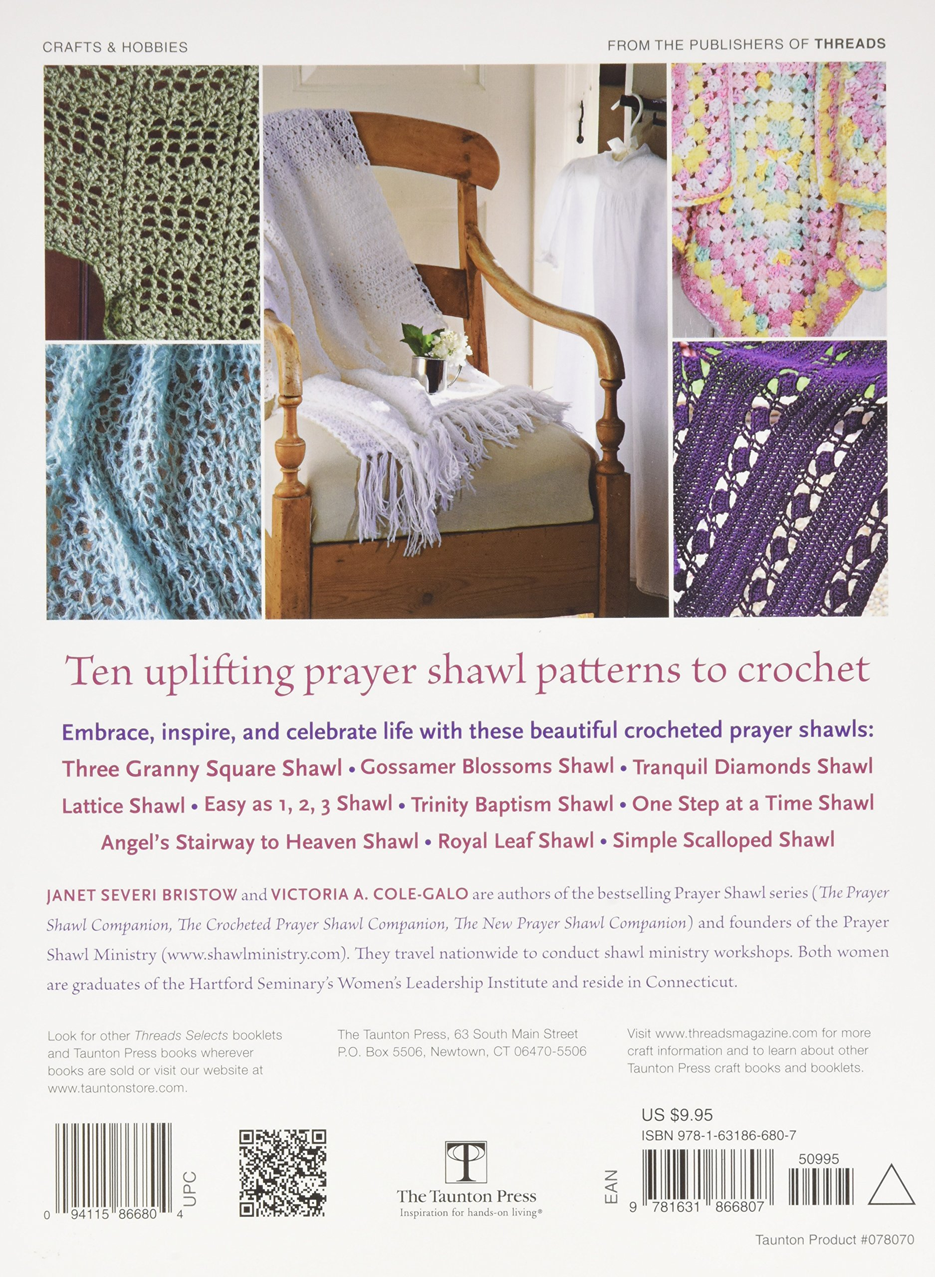 More Crocheted Prayer Shawls: 10 Patterns to Make and Share: Janet Severi Bristow, Victoria A. Cole-Galo: 9781631866807: Amazon.com: Books