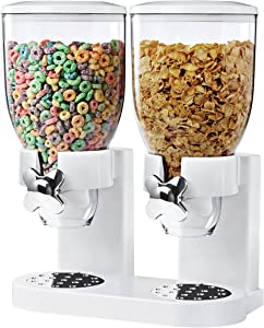 Zevro /GAT201C Indispensable Dry Food Dispenser, Dual Control, White/Chrome