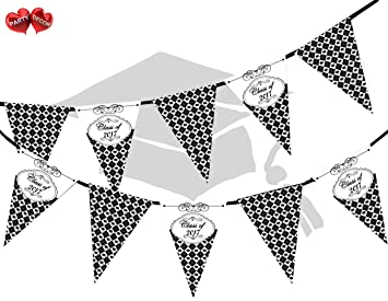 Congratulations Graduate Class Of 2017 Argyle Pattern Themed Bunting