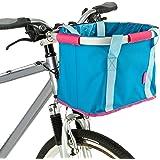 Schwinn Folding Handlebar Bag, Blue/Pink