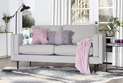 Elle Decor Simone Sofa - Light Gray