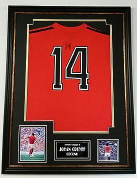 www.signedmemorabiliashop.co.uk Johan Cruijff Rare de Holanda Signé para Hombre