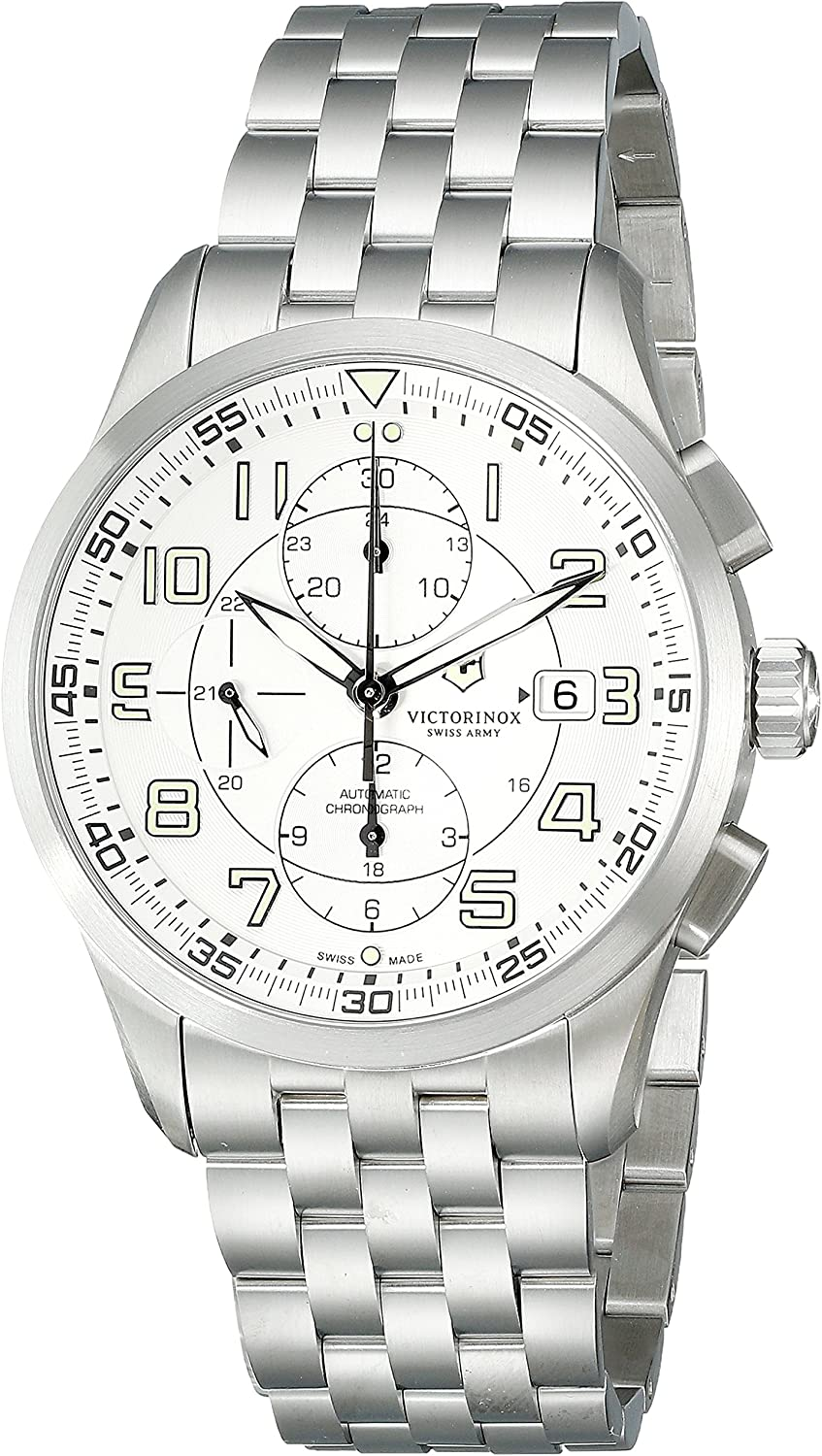 Victorinox Men's 241621 AirBoss Analog Display Swiss Automatic Silver Watch