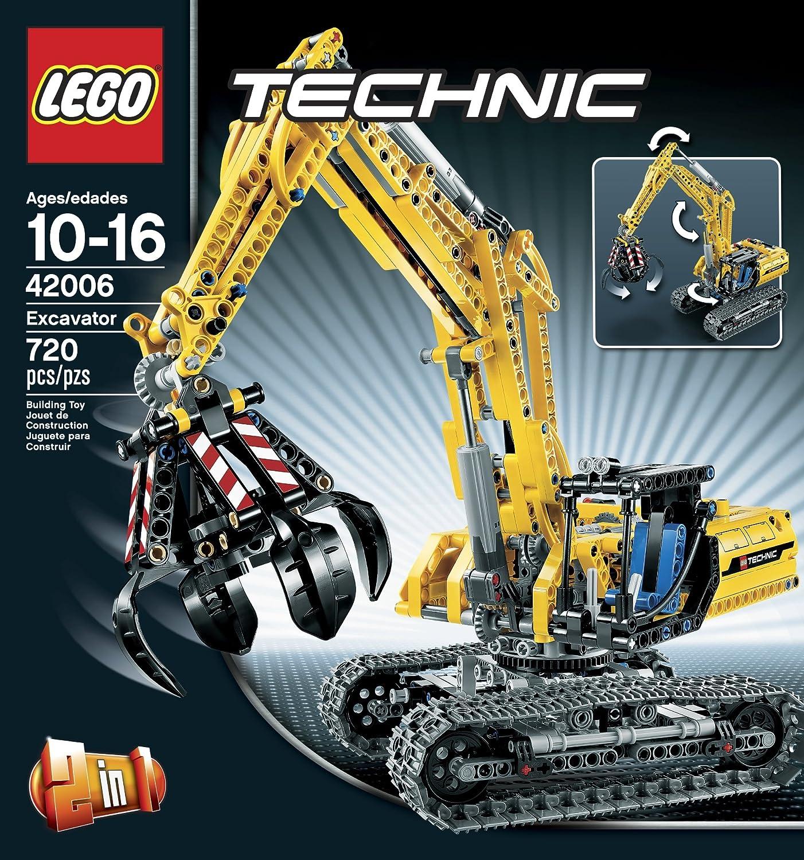 Amazoncom Lego Technic 42006 Excavator Toys Games