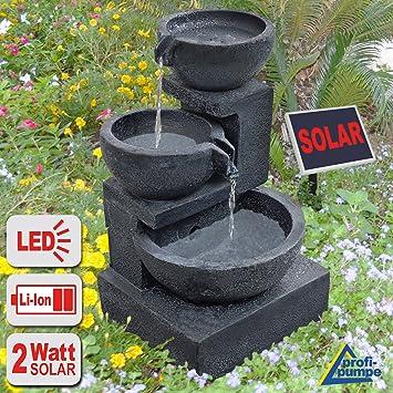 fuente solar exterior fuente decorativa tazn granito en cascada - Fuentes De Agua Decorativas