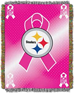 """NFL Pittsburgh Steelers BCA Woven Tapestry Throw Blanket, 48"""" x 60"""""""