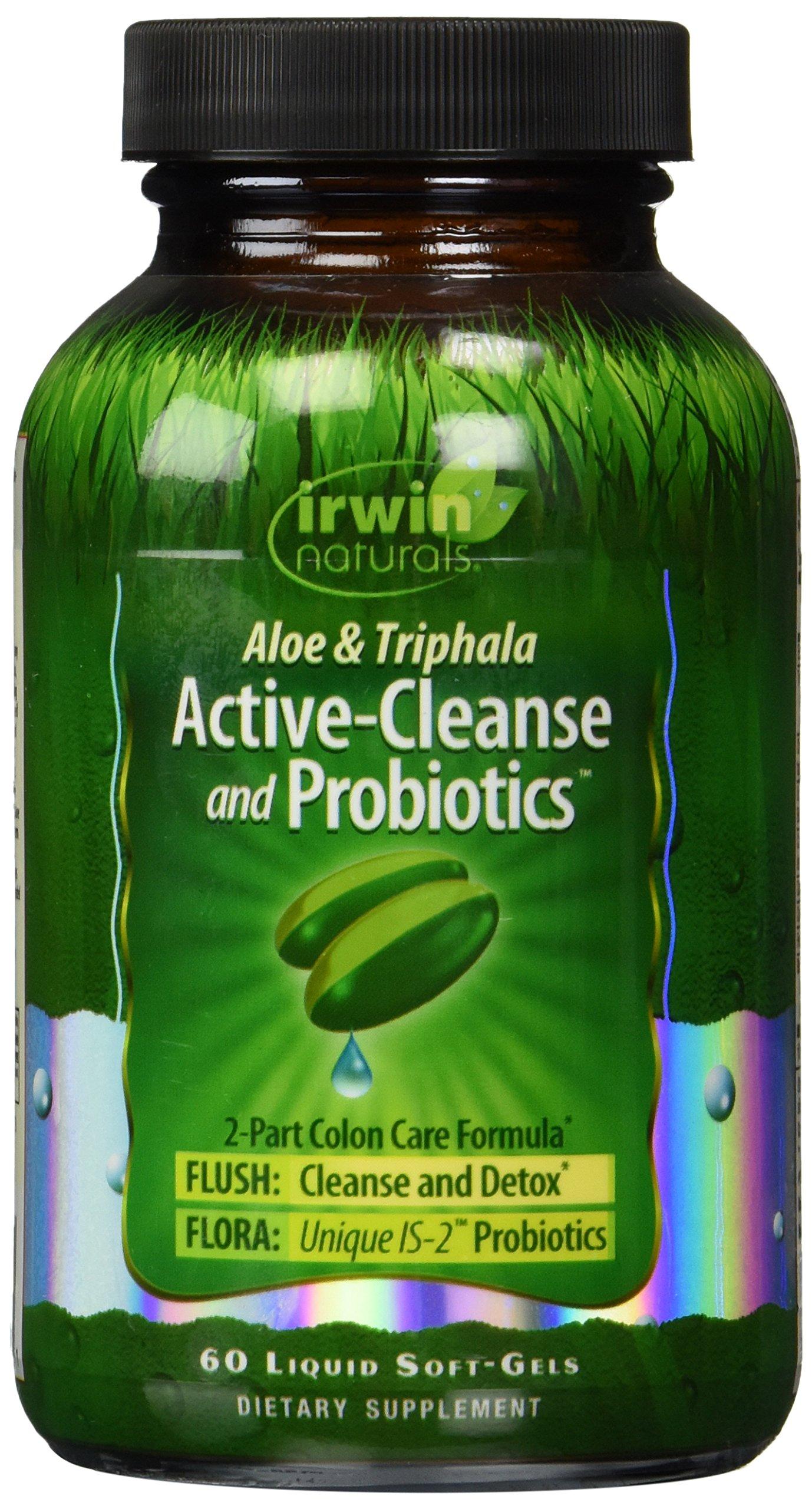 Irwin Naturals Active Cleanse and Probiotics Diet Supplement, 60 Count