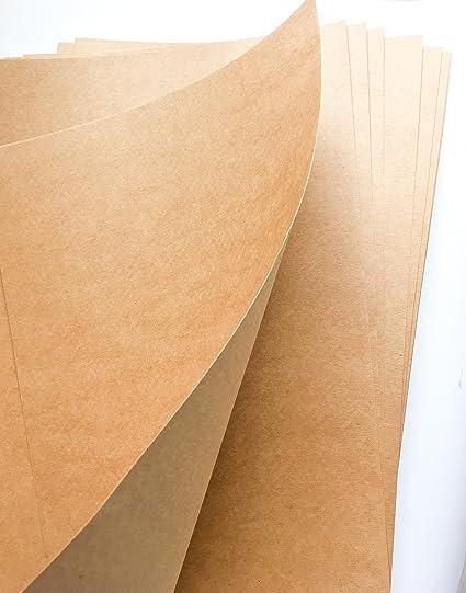 Merakii A3 Brown Kraft Paper Sheets 140 GSM Cardstock Papers - Pack of 10