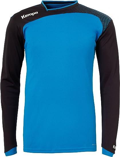 Kempa Emotion Camiseta de manga larga, Hombre, Multicolor (Azul/Negro), L