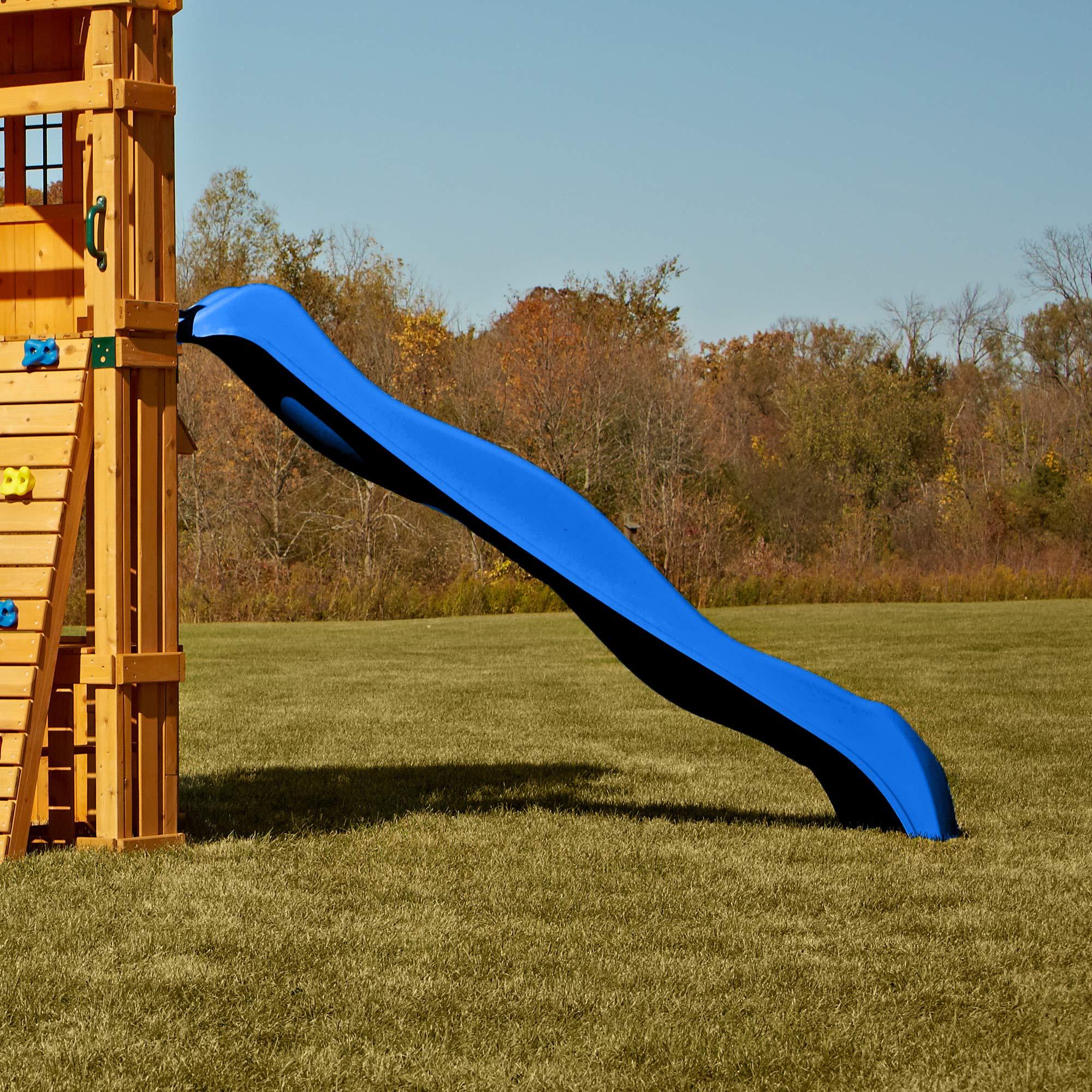 Swing-N-Slide NE 3054 Speedwave Slide Plastic Slide for 4' Decks with, Blue by Swing-N-Slide (Image #4)