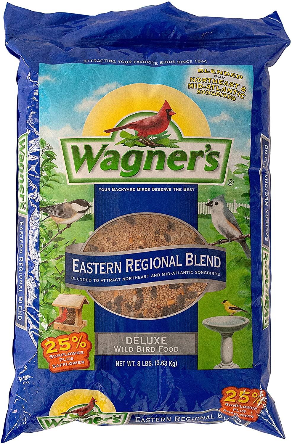 Wagner's 62011 Eastern Regional Blend Wild Bird Food, 8-Pound Bag