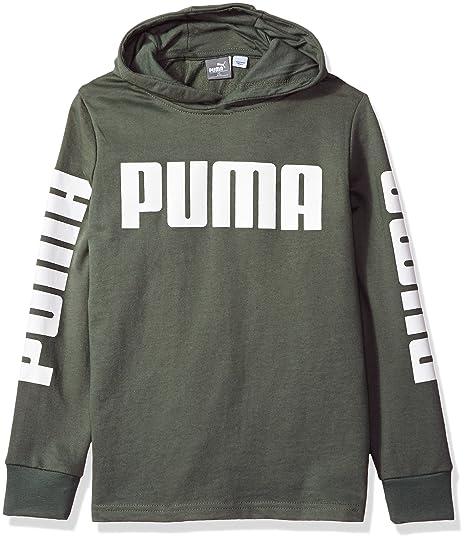 32ef34f5316d Puma Boys  Rebel Pull Over Hoodie Windbreaker Castor Grey Small (8) US