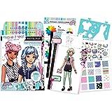 Make It Real - Fashion Design Sketchbook: Pastel Pop. Inspirational Fashion Design Coloring Book for Girls. Includes Sketchbo