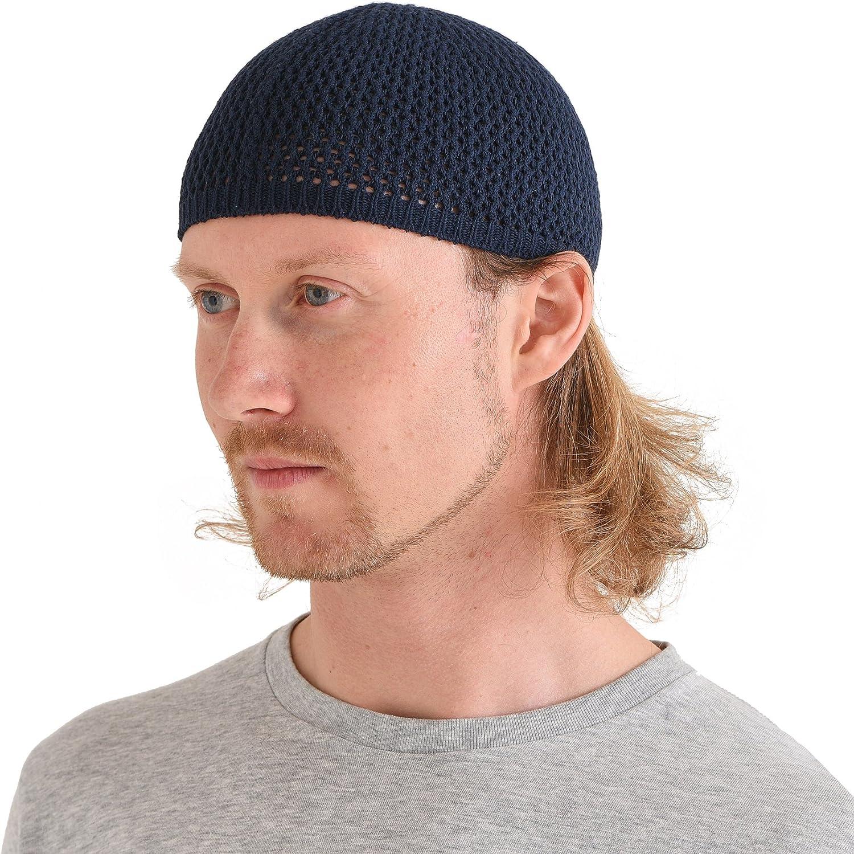 CHARM Silk Kufi Hat Skull Cap Mens Beanie Hat Handmade in Japan Stretchy