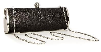 Big Handbag Shop Womens Party Evening Wedding Sparkle Glitter Hard Diamante  Ball Clasp Clutch Bag Purse 26abfc244f34