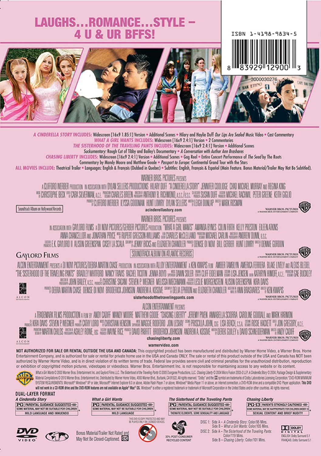 Amazon com: 4 Film Favorites: Girls' Night Collection (A