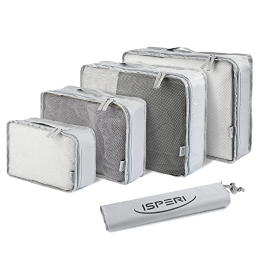 5 Set Packing Cubes - Travel Luggage Packing Organizers with Laundry Bag - Packing Cube by Isperi