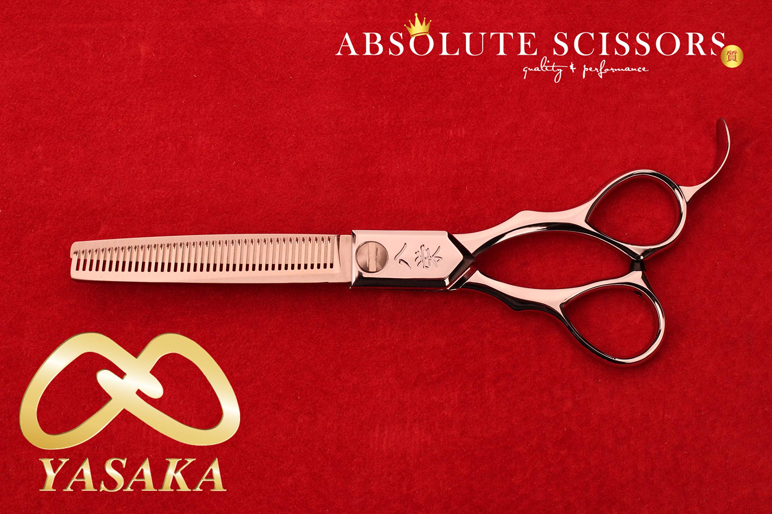 Yasaka YS400 HAIR Thinning scissors/shears 55% CUT AWAY COBALT ATS314
