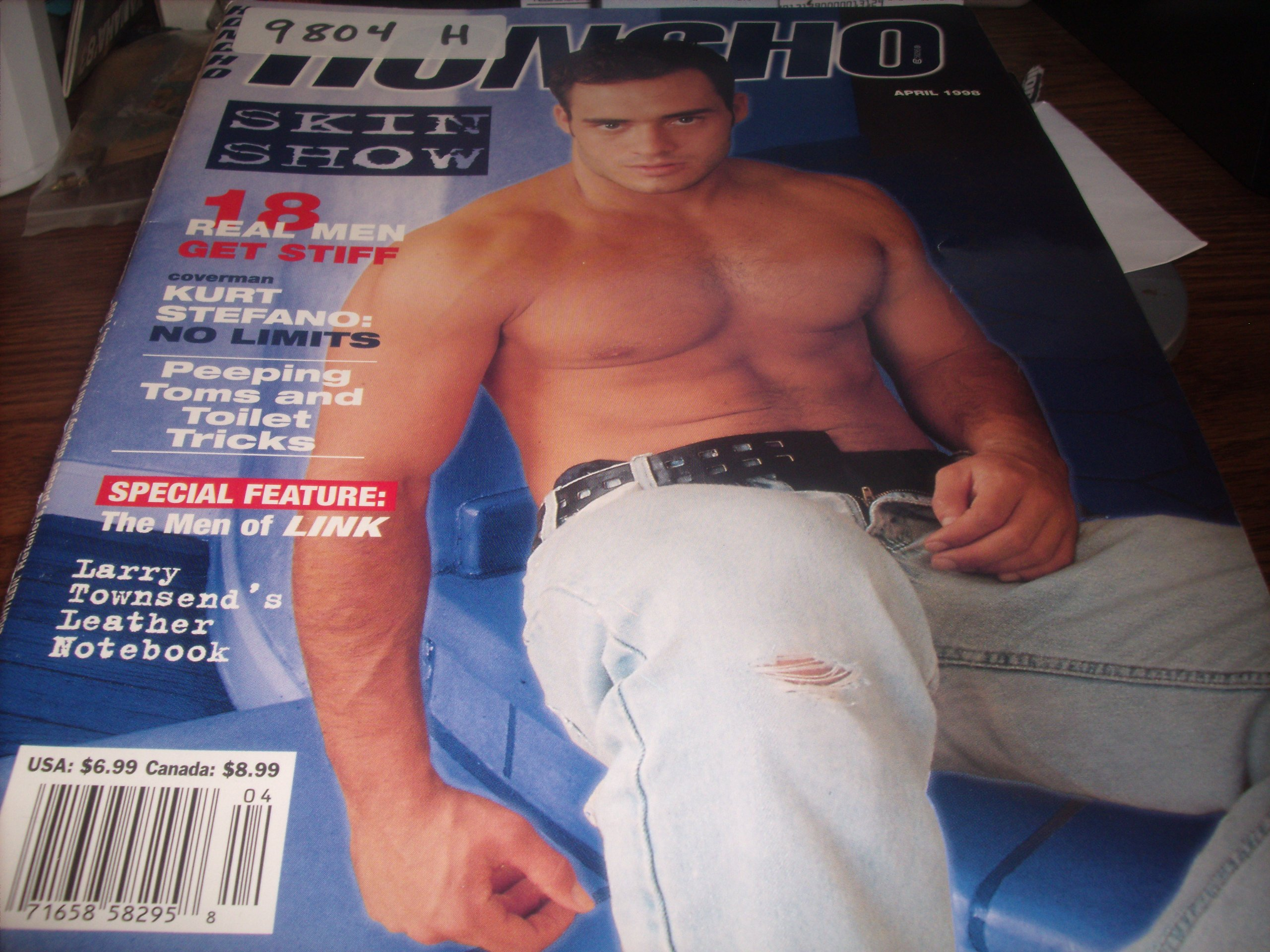 Honcho Adult Men's Gay Magazine April 1998 Skin Show, Larry Townsend's  Leather Notebook Staple Bound – 1998