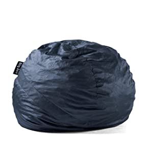 Big Joe Lenox Fuf Foam Filled Bean Bag, Large with Removable Cover, Cobalt