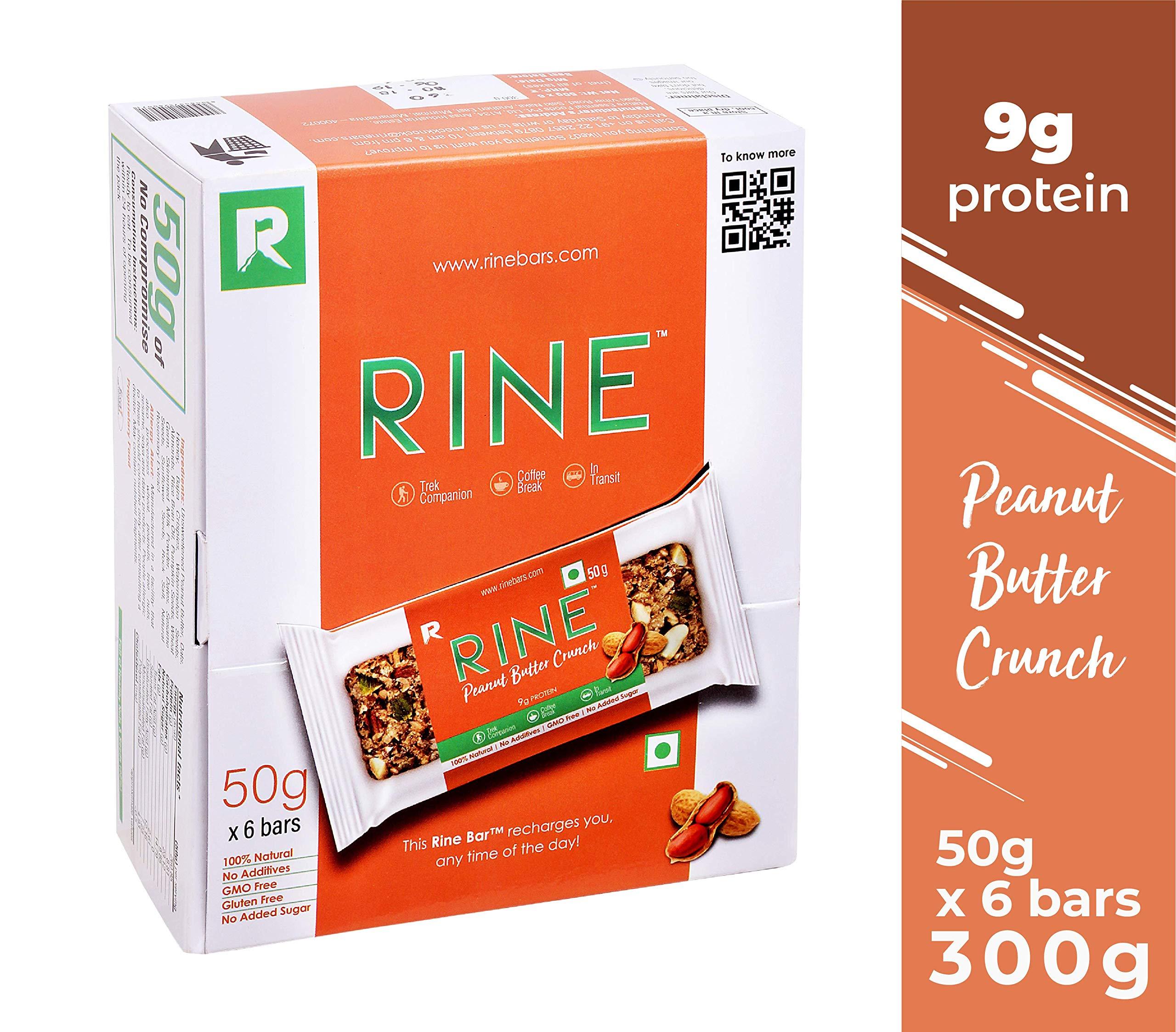 Rine Bars Peanut Butter Crunch Granola Bar, 6 X 50 g product image